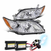 HID Xenon + 07-09 Toyota Camry Projector Headlights - Chrome