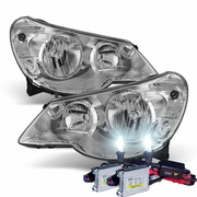 HID Xenon + 07-10 Chrysler Sebring OEM Replacement Crystal Headlights - Chrome