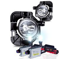 HID Xenon + 07-09 Nissan Altima 4Dr OEM Style Replacement Fog Lights - Clear