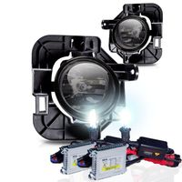 HID Xenon + 07-09 Nissan Altima 4Dr OEM Style Replacement Fog Lights - Smoked
