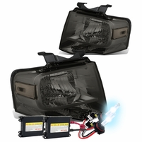 HID Xenon + 07-14 Ford Expedition U324 OEM-Style Crystal Headlights - Smoked Clear