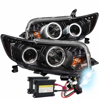 HID Xenon + 08-10 Scion xB CCFL Halo LED Projector Headlights - Black