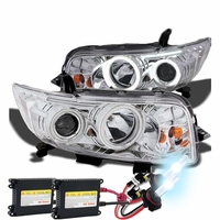 HID Xenon + 08-10 Scion XB CCFL Angel Eye Halo Projector Headlights - Chrome