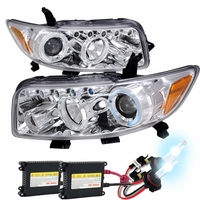 HID Xenon + 08-10 Scion xB Halo LED DRL Projector Headlights Chrome