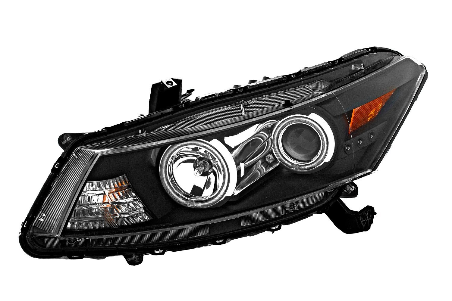 Hid Xenon 08-12 Honda Accord Coupe Ccfl Angel Eye Halo Proiettore Fari - Nero-1498