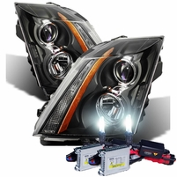 HID Xenon + 08-14 Cadillac CTS [Factory Halogen Model] OE Style Projector Headlights - Black