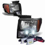 HID Xenon + 09-14 Ford F150 OEM Style Black Housing Headlights