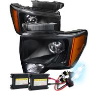 HID Xenon + 09-14 Ford F150 [Retro Style] Projector Headlights - Black