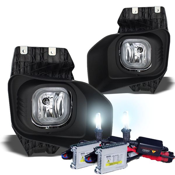 HID Combo 11-15 Ford F250 350 450 SuperDuty Fog Lights - Clear