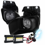 HID Combo 11-15 Ford F250 350 450 SuperDuty Fog Lights - Smoked