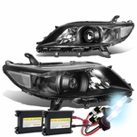 HID Combo 11-17 Toyota Sienna OE-Style Replacement Projector Headlight - Black / Clear