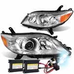 HID Combo 11-17 Toyota Sienna OE-Style Replacement Projector Headlight - Chrome / Amber