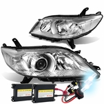 HID Combo 11-17 Toyota Sienna OE-Style Replacement Projector Headlight - Chrome / Clear