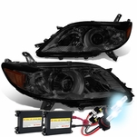 HID Combo 11-17 Toyota Sienna OE-Style Replacement Projector Headlight - Smoked / Amber