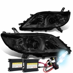 HID Combo 11-17 Toyota Sienna OE-Style Replacement Projector Headlight - Smoked / Clear