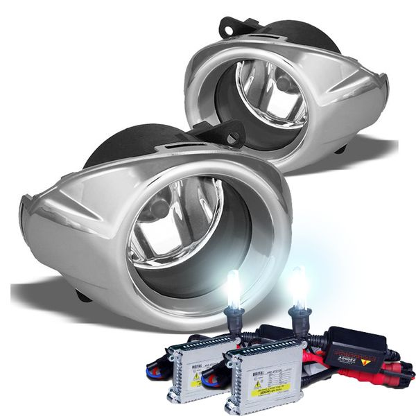 HID Combo 12-14 Ford Focus (Glass Lens) Factory Style Fog Lights Kit - Clear Lens