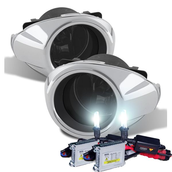 HID Combo 12-14 Ford Focus (Glass Lens) Factory Style Fog Lights Kit - Smoked Lens