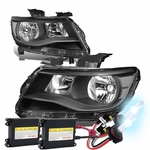 HID Xenon + 15-17 Chevy Colorado Replacement Crystal Headlights - Black / Amber