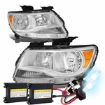 HID Xenon + 15-17 Chevy Colorado Replacement Crystal Headlights - Chrome / Amber