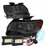 HID Xenon + 15-17 Chevy Colorado Replacement Crystal Headlights - Smoked / Amber