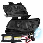 HID Xenon + 15-19 Chevy Colorado Replacement Crystal Headlights - Smoked / Amber
