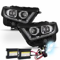 HID Combo 15-17 Ford Edge Sequential LED Signal / DRL Projector Headlights - Chrome