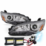 HID Xenon + 15-17 Toyota Camry [Halogen Model] Replacement Headlights - Pair