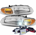 HID Combo 1996-2000 Chrysler Sebring Convertible Replacement Crystal Headlights - Chrome