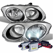 HID Combo 1999-2004 Chrysler 300M Replacement Crystal Headlights - Chrome
