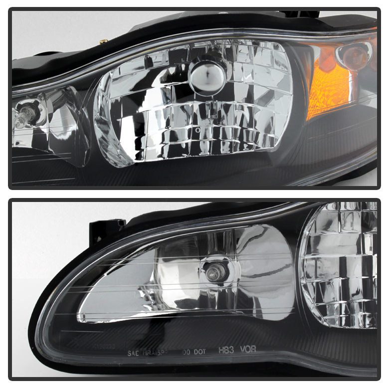 Hid Xenon 2000 2005 Chevy Monte Carlo Replacement Crystal Headlights Black