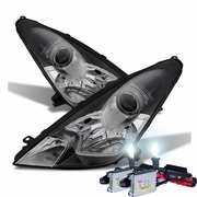 HID Xenon + 2000-2005 Toyota Celica Replacement Projector Headlights - Chrome