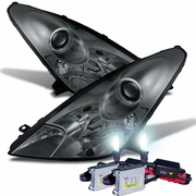 HID Xenon + 2000-2005 Toyota Celica Replacement Projector Headlights - Smoked