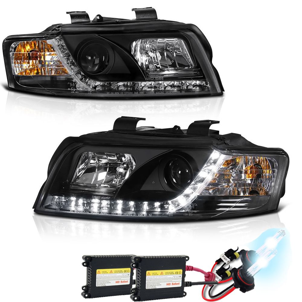 HID Xenon + 2002-2005 Audi A4 / S4 LED DRL Projector
