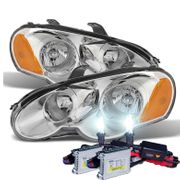 HID Xenon + 2003-2005 Chrysler Sebring Coupe Replacement Crystal Headlights - Chrome