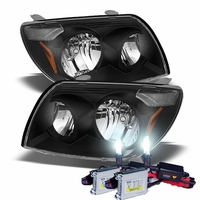 HID Xenon + 2003-2005 Toyota 4Runner Replacement Crystal Headlights - Black