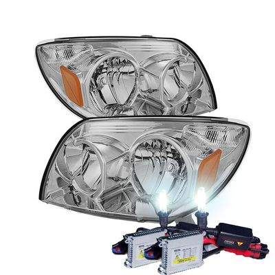 HID Xenon + 2003-2005 Toyota 4Runner Replacement Crystal Headlights - Chrome