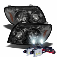 HID Xenon + 2003-2005 Toyota 4Runner Replacement Crystal Headlights - Smoked