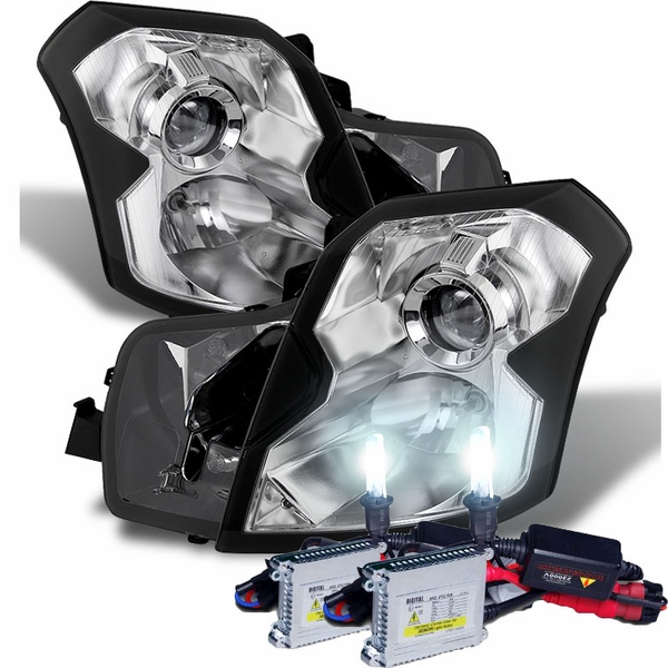 HID Combo 2003-2007 Cadillac CTS [Halogen Model Only] Projector Headlights - Chrome