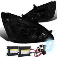 HID Xenon + 2003-2007 Honda Accord 2D / 4D Euro Crystal Headlights - Smoked