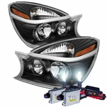 HID Xenon + 2004-2005 Buick Rendezvous Replacement Crystal Headlights - Black