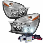 HID Xenon + 2004-2005 Buick Rendezvous Replacement Crystal Headlights - Chrome