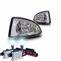 HID Xenon + 2004-2005 Honda Civic 2/4Dr OEM Replacement Fog Lights Kit - Clear