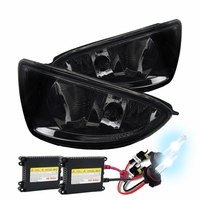 HID Xenon + 2004-2005 Honda Civic 2/4Dr OEM Replacement Fog Lights Kit - Smoked