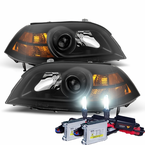 HID Combo 2004-2006 Acura MDX Replacement Projector Headlights - Black