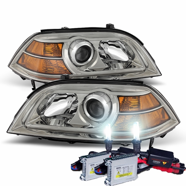 HID Combo 2004-2006 Acura MDX Replacement Projector Headlights - Chrome