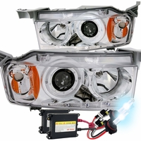 HID Xenon + 2004-2006 Scion xB Angel Eye Halo Projector Headlights - Chrome