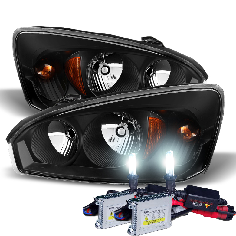 2004 2008 Chevy Malibu Replacement Crystal Headlights Black Click To Enlarge