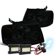 HID Xenon + 2004-2008 Ford F150 / Lincoln Mark LT Crystal Headlights - Smoked