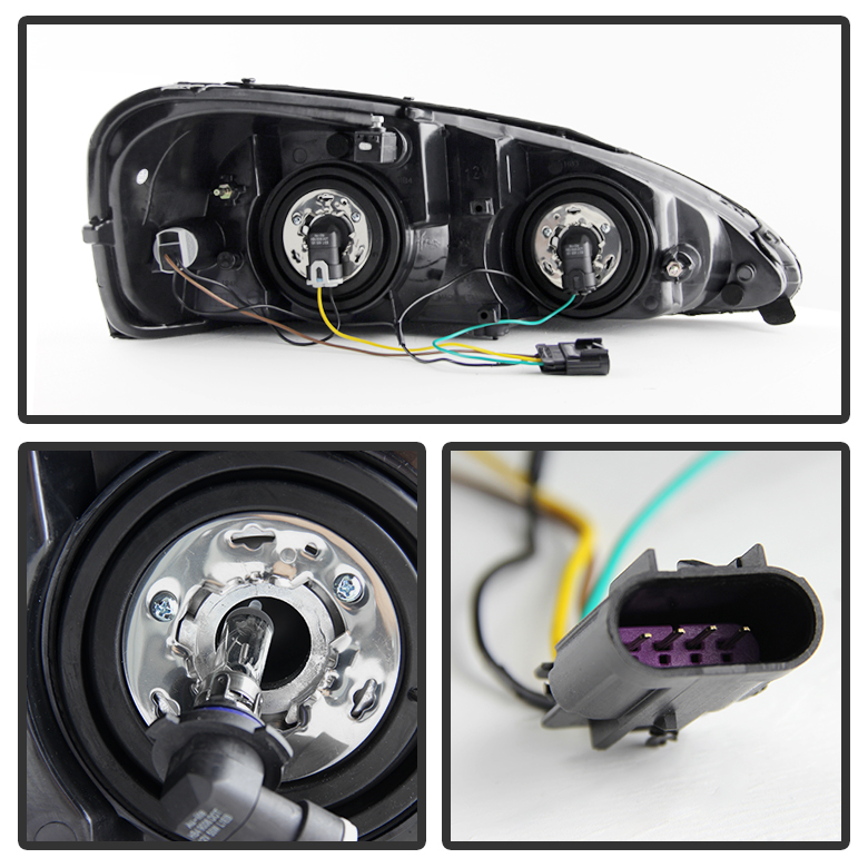 Hid Xenon 2004 2008 Pontiac Grand Prix Replacement Oe Style Crystal Headlights Smoked