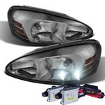 HID Xenon + 2004-2008 Pontiac Grand Prix Replacement OE Style Crystal Headlights - Smoked